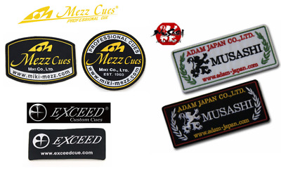 Billiards Patch Sticker Pool Mezz Miki exceed Adam Japan Famous brand logo NEW