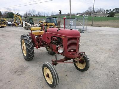 Massey Harris 16 Pacer Tractor, Wide Front, Belt Pulley, Good Straight Original