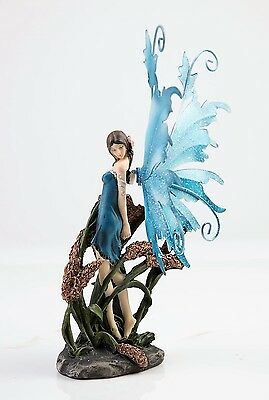 Fairy Standing in Bullrushes  - Legends of Avalon Figurine with Metal Wings