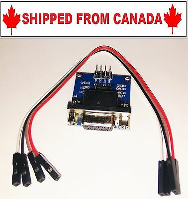 RS232 Serial Port To TTL Converter Module DB9 Connector - SHIPPED FROM CANADA