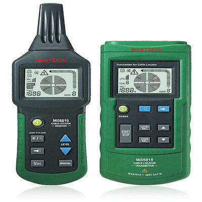 Protable MS6818 Metal Pipe Locator Underground Wire Detector Tracker Tester
