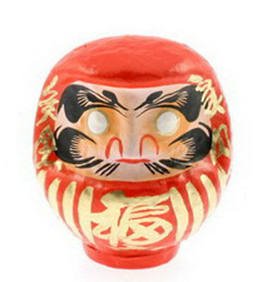 "Japanese 6""H Red Fuku Daruma Doll for Good Luck Rich & Fortune, Made in Japan"
