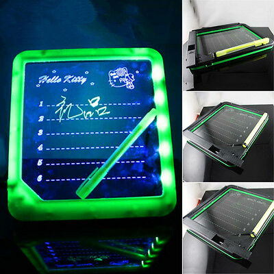 LED Light Fluoresce Writing Board Drawing Panel Tablet Message Note Reminder