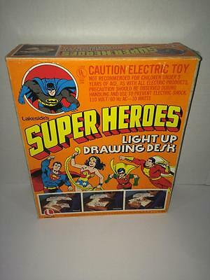DC Super Heroes light up drawing desk Lakeside 1970's