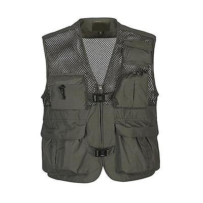 Quick Drying Multi-Pocket Fly Fishing Photography Casual Mesh Vest Jacket M-3XL