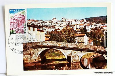 Yt 1904 LE PONT DU MOUTIERS THIERS   FRANCE CARTE MAXIMUM 1° JOUR FCP