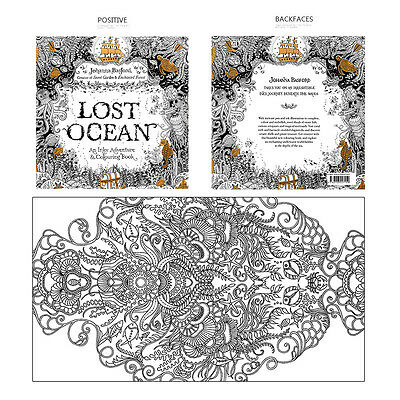 Lost Ocean Painting Graffiti Art Books Youngs Drawing Adult Coloring Book Gifts