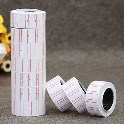 Retail Store White Price Gun Sticker Label Tag Refill MX 5500 ~1PC Roll~