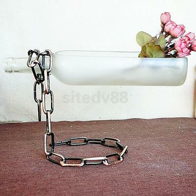 Floating Magic Chain Wine Alcohol Bottle Holder Illusion Rack Stand Bronze