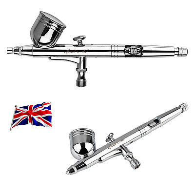 UK NEW SP130K Double-action Trigger Air-paint Control Airbrush