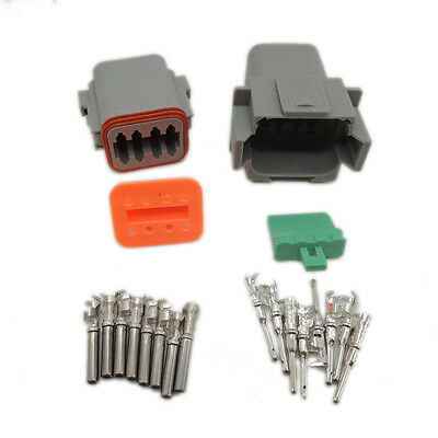 1 sets Kit Deutsch DT 8 Pin Waterproof Electrical Wire Connector plug Kit 22-16