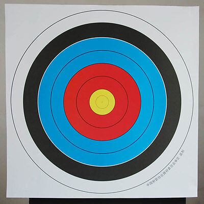 10 pcs 40*40 cm Archery Shooting Target Paper Bow Hunting Archery