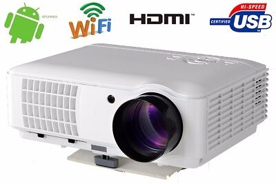 4000 Lumen 1080P Home Theater HDMI Full HD Built-In Android WiFi LED  Projector