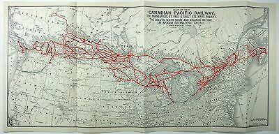 Original 1923 Dated Map of the Canadian Pacific Railway