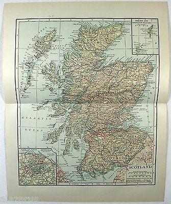 Original 1914 Map of Scotland