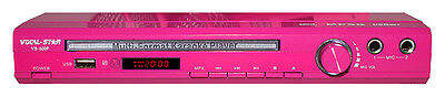 Vocal-Star Vs-600 Pink Karaoke Machine Player Cdg Dvd Usb Cd Mp3 Mp3+G