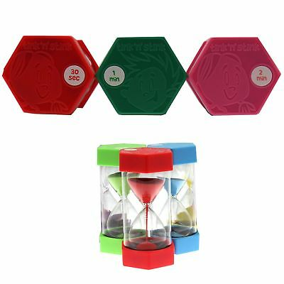 Set of 3 Tink n Stink Large Egg Hourglass Sand Timers-30s to 60-Mins Autism SEN