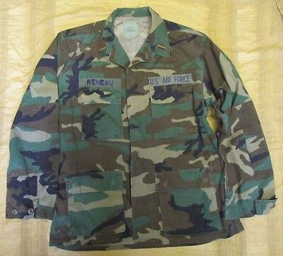 Genuine Us/usaf M81 Bdu/woodland Ripstop Combat Jacket/shirt. Medium-Regular.