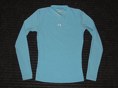 Under Armour Base Layer Compression Long Sleeve LS Shirt Womens Small SM Blue