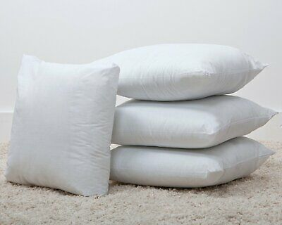 """20"""" x 20 Inch Cushion Pads / Inners Hollowfibre Bounce Back Inserts Cotton Blend"""