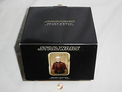 NEW (Read) Star Wars Count Dooku Collectible Bust Gentle Giant PS / 2500 Sample?