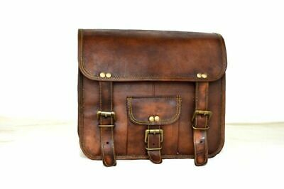 Saddle Bag Panniers1 Side Pouch Brown Leather Motorcycle Side Pouch Saddlebags