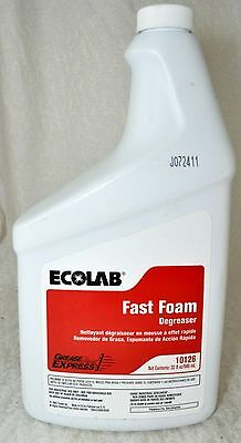 Restaurant INDUSTRIAL Heavy Duty Degreaser ECOLAB Grease Express FAST FOAM 32oz