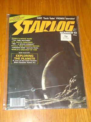 Starlog #13 Sci-Fi Magazine May 1978 Space Solar System Close Encounters