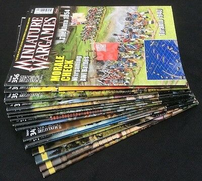 Lot of  20 Miniature WarGames Magazines from 2011 - 2012