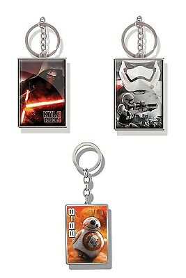 Genuine Star Wars The Force Awakens Lenticular 3D Metal Keyring Fob Key Ring