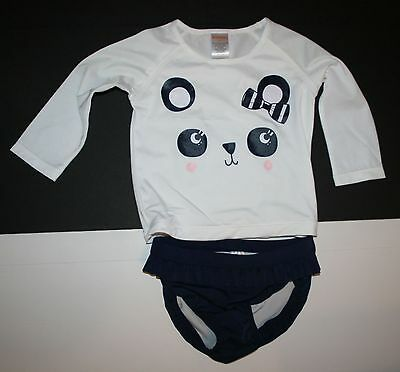 New Gymboree Outlet Swimsuit Panda Bear Face NWT 2T 3T 4T 5T  2 Piece Set Top