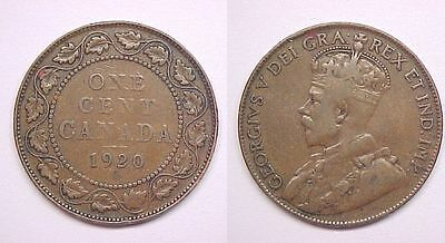1920 Canadian Large Cent  Very Good VG