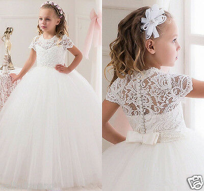 Ball Gown Flower Girls kids Party Princess Birthday Prom Formal Pageant Dresses