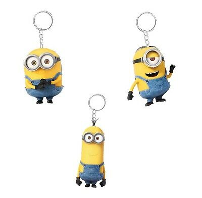 Genuine Despicable Me Minions Banana Scented 3D Keyring Fob Bob / Kevin / Stuart