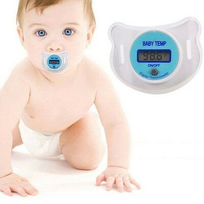Baby Nipple Fahrenheit Thermometer Baby Pacifier LCD Digital... New