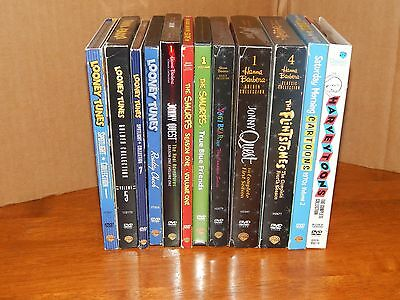 Collection Of 12 DVD Cartoon Sets Hanna-Barbera Looney Tunes Harvey Toons + More