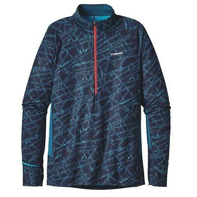 New - Patagonia Men's All Weather Zip Neck Long Sleeve Running Shirt