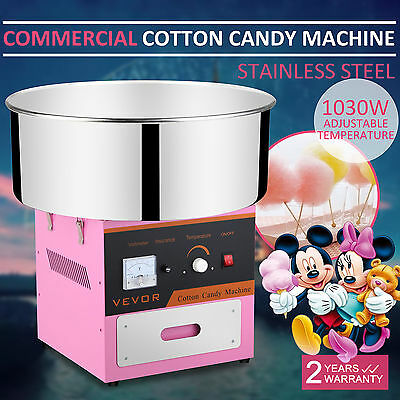 Cotton Candy Machine Floss Maker Sugar Stainless Steel Pink Creditable Seller