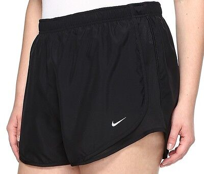 Womens NIKE Tempo shorts PLUS Size 2x 2xl xxl Track running 20 22  ALL BLACK