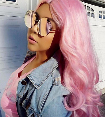 "Round ""Linda"" Mirror Pink Women Sunglasses"