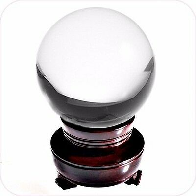 Amlong Crystal Clear Crystal Ball 150mm (6 in.) Including Wooden Stand