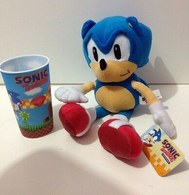 Sonic The Hedgehog 40cm Plush & Sonic Large Drinking Cup BN