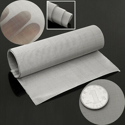 """100 Micron Mesh Stainless Steel Woven Wire Cloth Screen Filter Sheet 12'' x 35"""""""