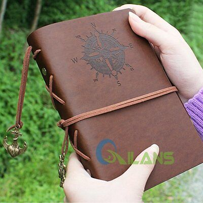 Vintage Classic Retro A6 Loose-leaf Book PU Leather Notebooks Binder Diary Memo