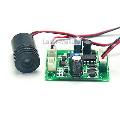 100mW 650nm 660nm 12V Red Laser Dot Diode Module w/ TTL & Driver Out 18x25mm