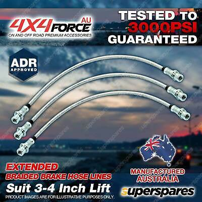 "3x F + R Extended Brake Hose Line For Toyota Hilux LN106 95-01 3""-4"" lift"