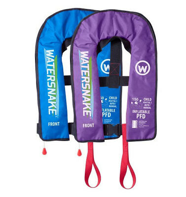 Kids Auto / Manual Combo Inflatable PFD - Watersnake in Light Blue, Lilac Purple