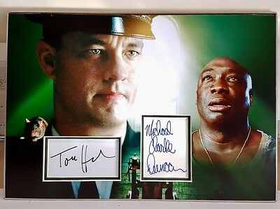 THE GREEN MILE mounted and matted 18x12 signed Tom Hanks & Michael Clarke Duncan