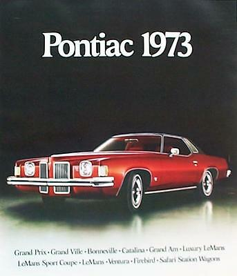 1973 Pontiac Bonneville Catalina Firebird Trans Am Safari FL Sales Brochure