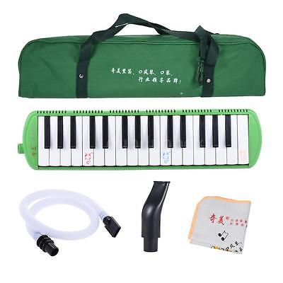QIMEI QM32A-10 32 Piano Style Keys Melodica Musical Instrument Green L9G2
